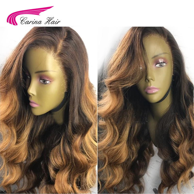 Carina Brazilian Lace Front Human Hair Wig with Baby Hair Pre Plucked Hairline Remy Hair Glueless