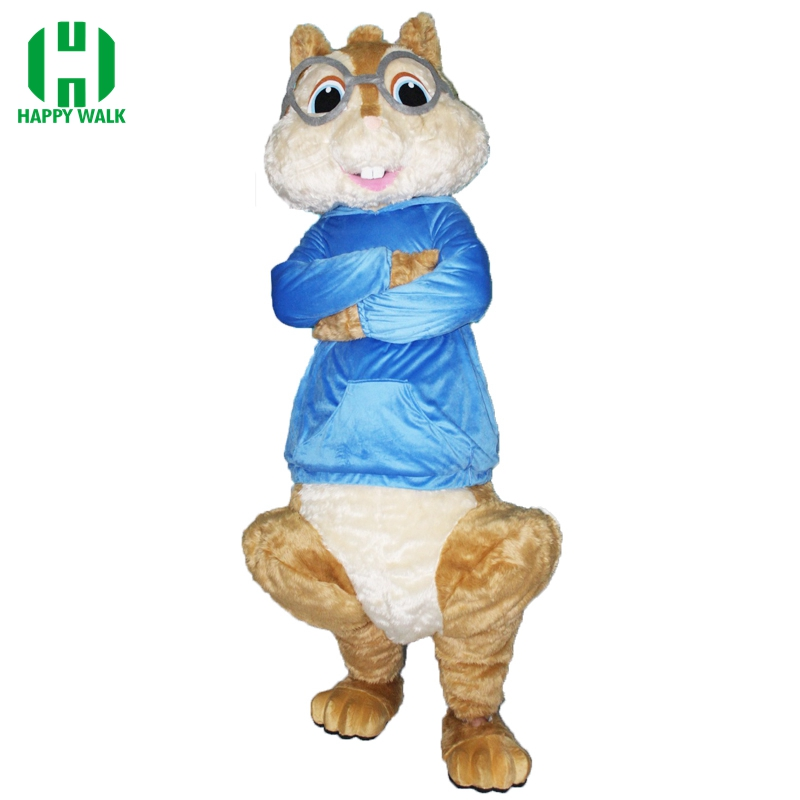 High Quality Alvin And Chipmunks Adult Szie Mascot Costume Fancy Dress Carnival Party Outfit