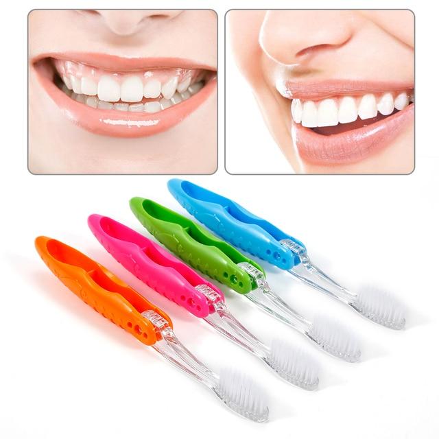 Y & W & F portátil 1 pc compacto plegable cepillo de dientes herramienta de limpieza Dental para llevar moderno mini diseño