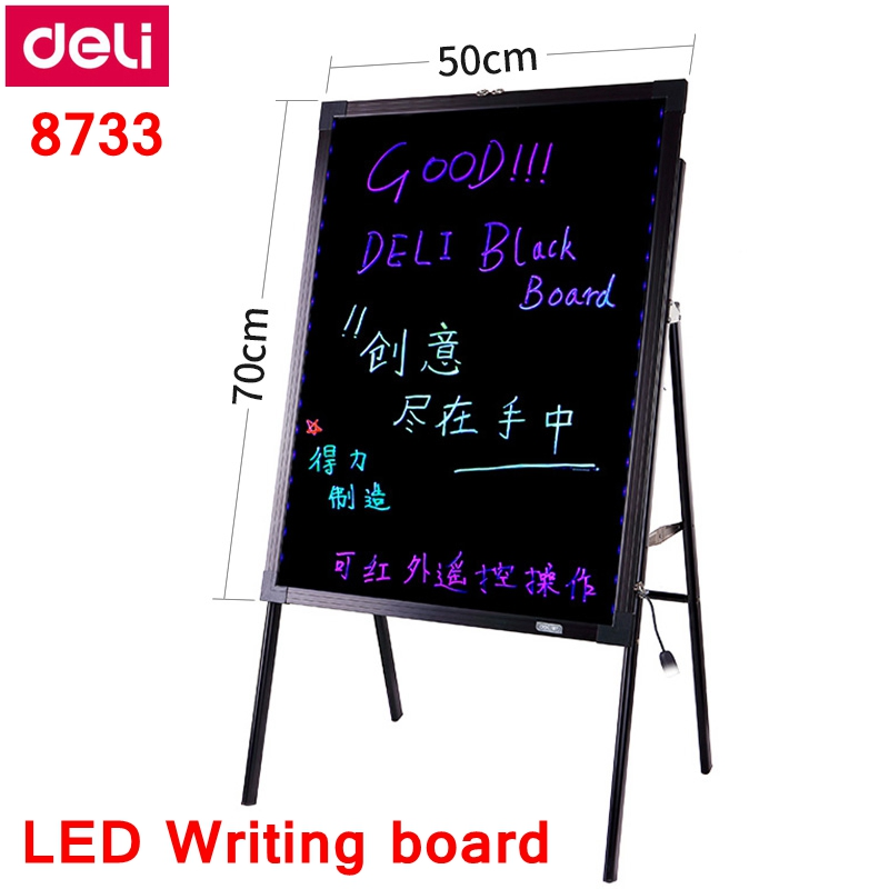 50x70 cm placa fluorescente eletronica com suporte 16 cores levou outdoor 01