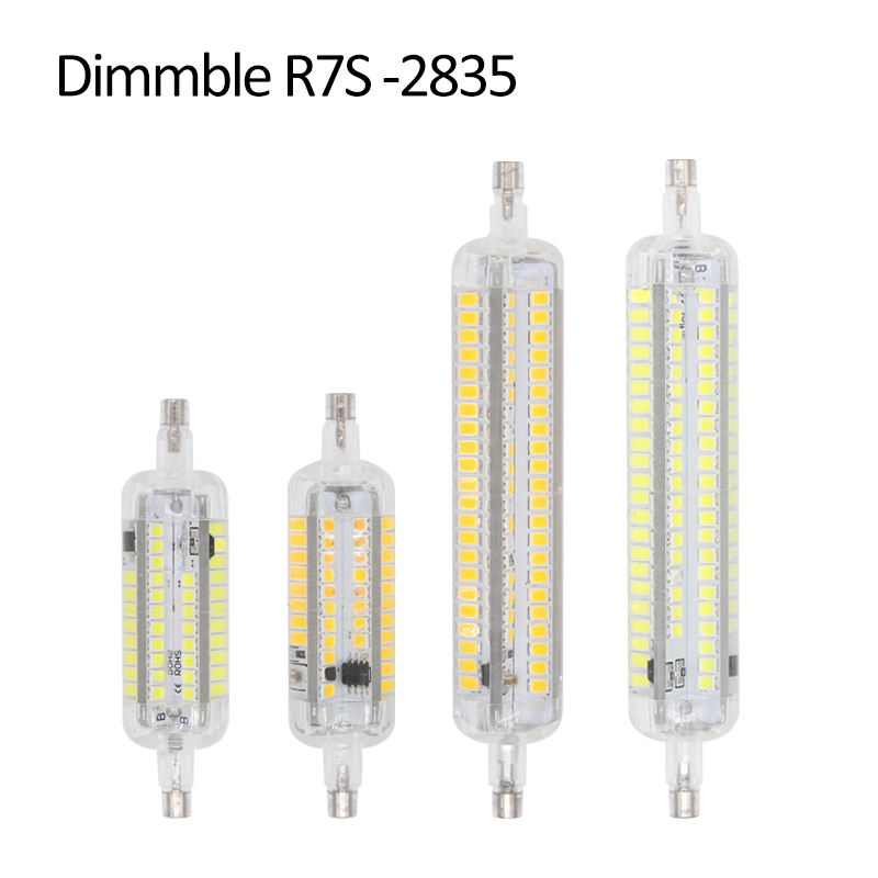 Dimmable Lampada LED Lamp R7S 10W 15W 220V SMD2835 R7S LED 118mm 78mm Spotlight Lamparas LED Bulbs Replace Halogen Light