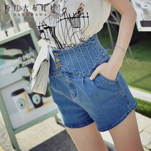 dabuwawa denim shorts 2017 summer new fashion high waist jeans women pink doll