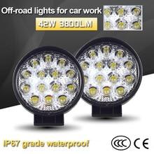 1 Pair 42-48w LED Car Light 6500k Warm White LED Lamps For Cars SUV Car Fog Light with Mount Holder Auto Headlight Bulbs цена в Москве и Питере
