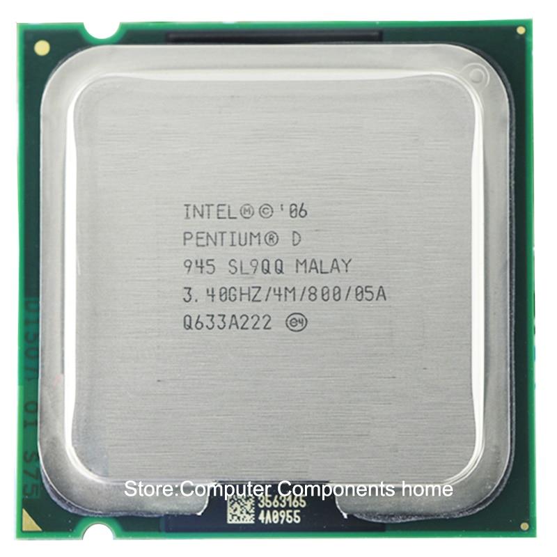 Original Intel Pentium D945 PD 945  Processor D 945 CPU (3.4Ghz/ 4M /800GHz) Socket 775