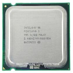 Orijinal intel Pentium D945 PD 945 İşlemci D 945 CPU (3.4 Ghz/4 M/800 GHz) soket 775