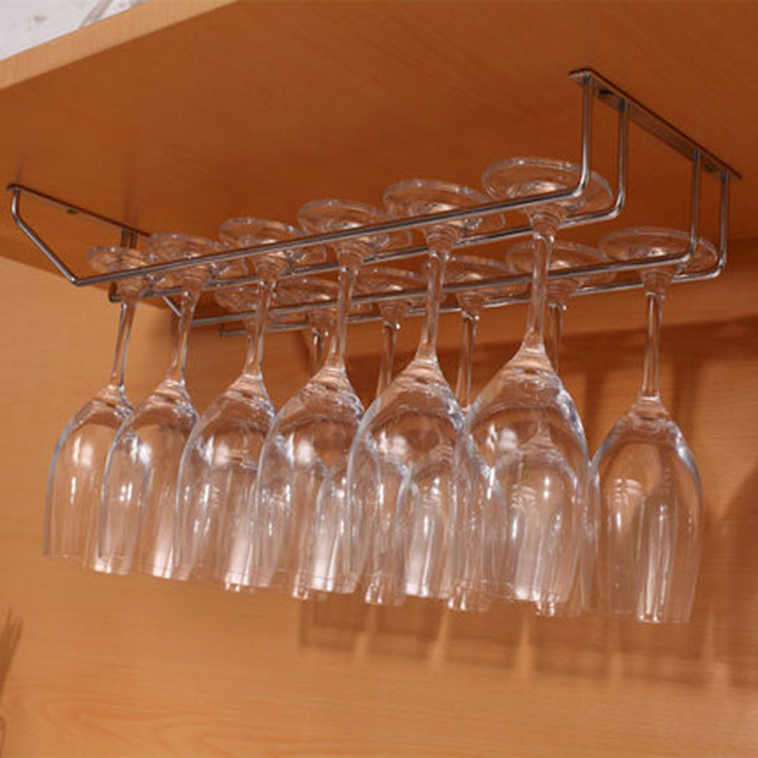 popular wine glass shelfbuy cheap wine glass shelf lots from  -  rows stainless steel wine glass rack hanger bar home cup glass holder silver(