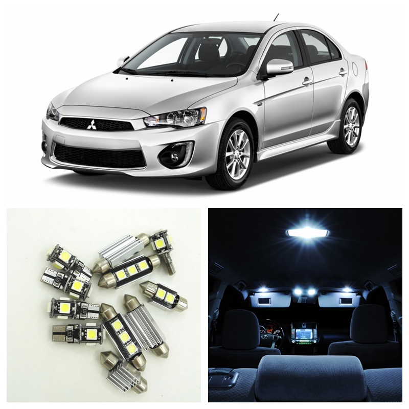 8pcs Super White LED Light Car Bulbs Interior Package Kit For 2007-2017 Mitsubishi Lancer Map Dome Trunk License Plate Lamp shanghai chun shu chunz chun leveled kp1000a 1600v convex plate scr thyristors package mail