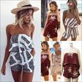 2017 Hot Rompers Women lace Jumpsuit Elegant Short Overalls Jumpsuit Female Summer Playsuit chest wrapped strapless Rompe