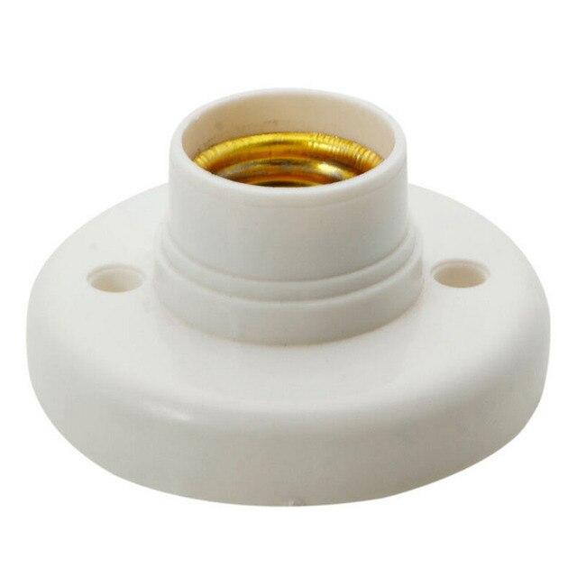 ZLinKJ 1PC E27 Screw Lamp Base Lampholder Light Bulb Socket Holder Plastic  White Round Adapter
