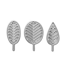 Naifumodo Leaves Dies 3 Botanical Leaf Metal Cutting for Card Making Scrapbooking Craft Embossing Cuts Stencil