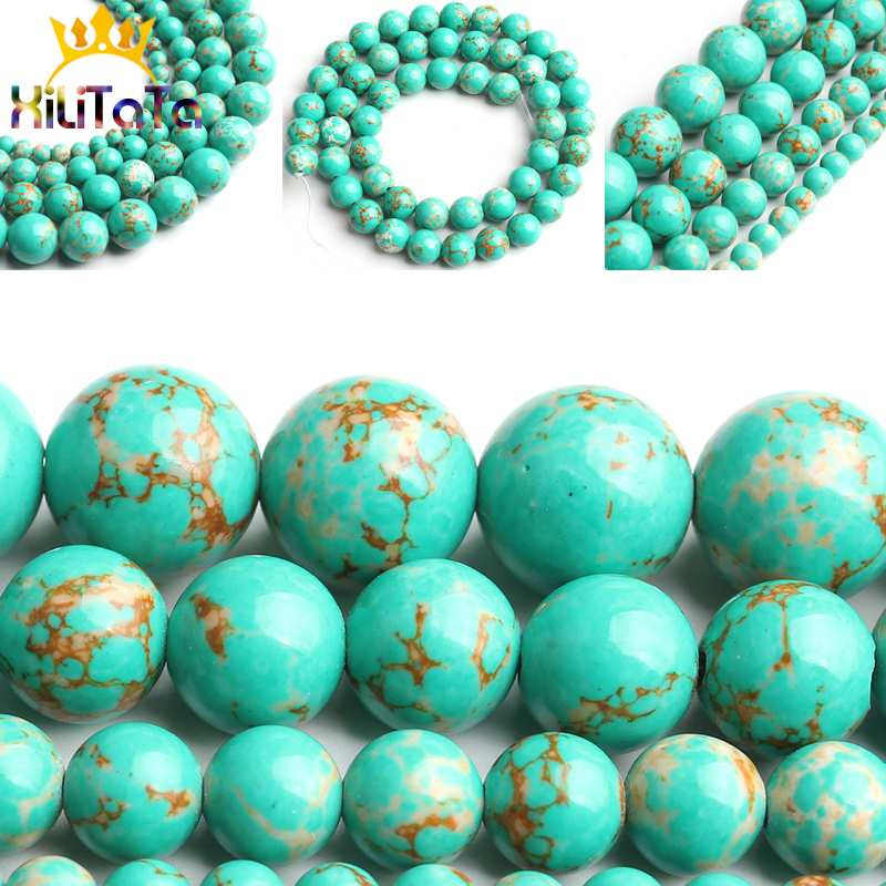 15/'/' Strand Green Stripes Gemstone Round Stone Spacer Loose Beads DIY 4//6//8//10MM