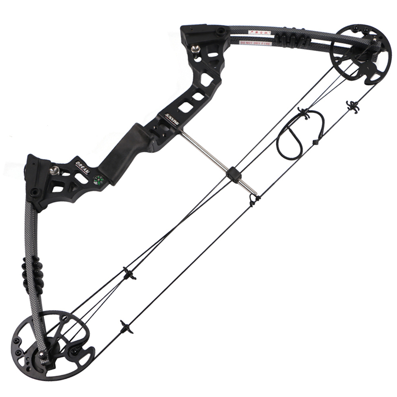 Archery fishing hunting compound bow 20-70lbs bare bow IBO320 let off 80% black dream compound bow