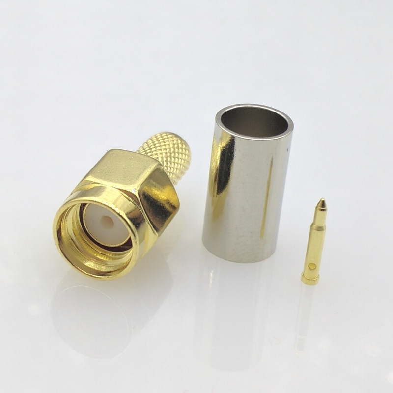 Free shipping SMA Male connector SMA male Plug RG58 LMR195 RG-400 RG-142 50-3 cable RF SMA connector 10pcs/lot 50pcs lot bfs17 sot23