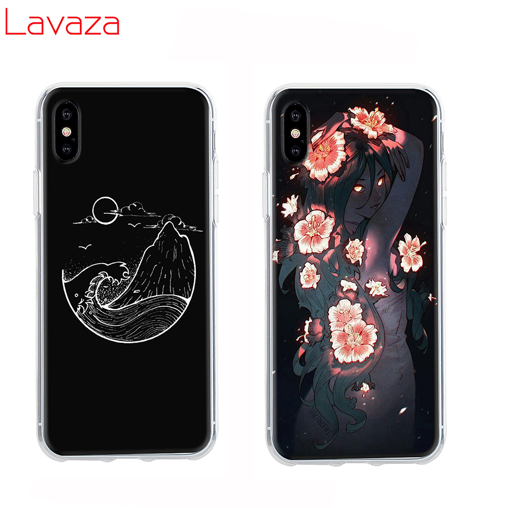 Lavaza Space girl Hard Phone Case for Apple iPhone 6 6s 7 8 Plus X 5 5S SE for iPhone XS Max XR Cover in Half wrapped Cases from Cellphones Telecommunications