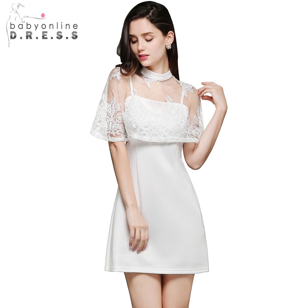 Satin Appliques Mini Short Prom Dresses Sheath With Jacket Cheap-Party-Dress Zipper-Up Robe De Soiree