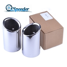 Audi Q3 Exhaust Tip Muffler Car Accessory Decoration Styling Stainless Steel Pipes Tips