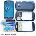 100% Original i8190 Back Battery Cover front LCD Screen glass for Samsung Galaxy S3 mini Complete Full Housing Case with Buttons