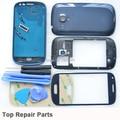 100% Original i8190 tampa traseira da bateria tela LCD frontal de vidro para Samsung Galaxy S3 mini caso de habitação completo completo com botões