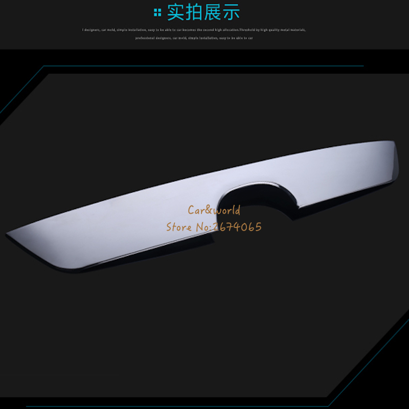 FOR 2013 to 2016 MAZDA CX-5 CX5 CHROME REAR TRUNK BOOT TAILGATE DOOR LID COVER TRIM MOLDING STAINLESS GARNISH STRIP ACCESSORIES high quality abs chrome door side line garnish guard body molding cover case for 2012 2016 mazda cx 5 cx5 protector trim