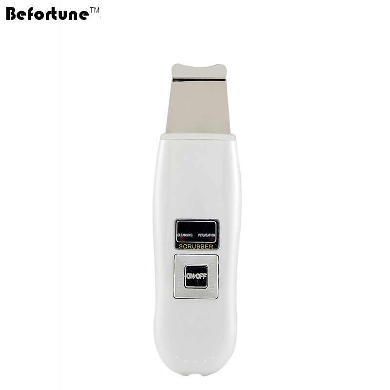 Befortune Skin Scrubber ABS Plug Use Ultrasonic Skin Scrubber Anti-Aging Face Cleaning Dead Skin Removal Machine BF1204 цена 2017