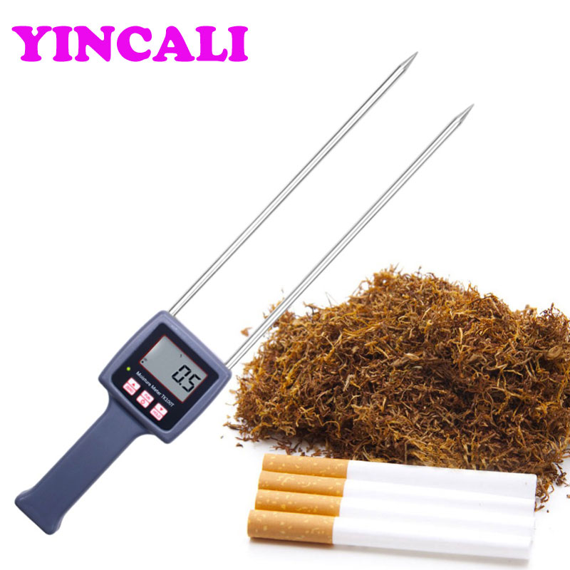 цена на High Accuracy Portable Digital Tobacco Moisture Meter TK100T Moisture Tester Measuring range 8%-40% hygrometer