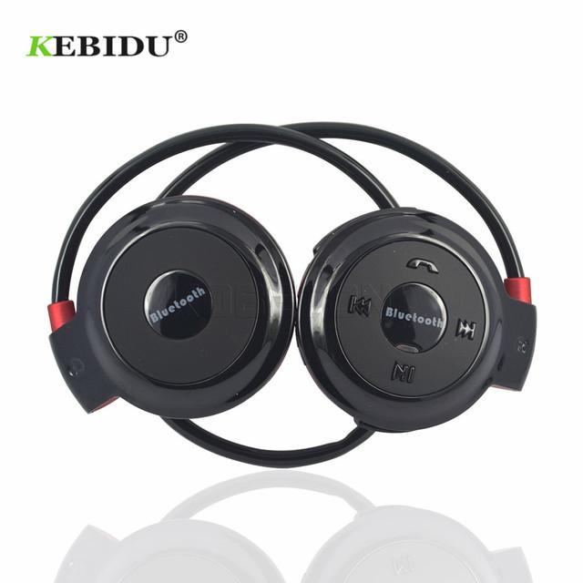 Kebidu TF+FM+MP3 Neckband Elastic Folded Headphones Wireless Headset Earphone Handsfree Sport Mini Bluetooth 5 Colors Available