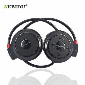 Image 1 - Kebidu TF + FM + MP3 Neckband אלסטי מקופל אוזניות אלחוטי אוזניות אוזניות דיבורית ספורט מיני Bluetooth 5 צבעים זמין