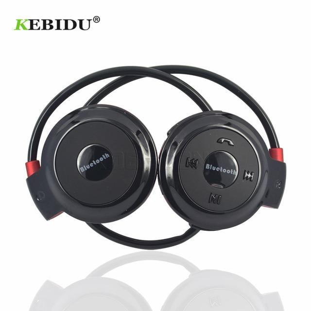 Kebidu TF + FM + MP3 Nekband Elastische Gevouwen Hoofdtelefoon Draadloze Headset Oortelefoon Handsfree Sport Mini Bluetooth 5 Kleuren Beschikbaar