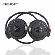 Kebidu TF + FM + MP3 z pałąkiem na kark elastyczne składane słuchawki bezprzewodowy zestaw słuchawkowy zestaw głośnomówiący Sport Mini Bluetooth 5 kolorów dostępne