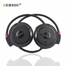 Kebidu TF + FM + MP3 สายคล้องคอยืดหยุ่นหูฟังชุดหูฟังไร้สายหูฟังแฮนด์ฟรีกีฬามินิบลูทูธ 5 สี