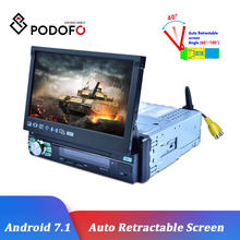 Podofo 1 Din Autoradio Android 7'' Car Radio GPS MP5 Multimedia Player Bluetooth Audio Stereo USB WIFI Blutooth FM Auto Stereo(China)