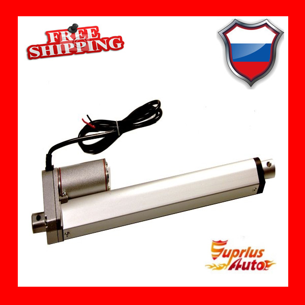 цена на Free shipping 16inch / 400mm 24v / 12v linear electric actuator, 1000N / 100kgs / 225lbs load linear actuator