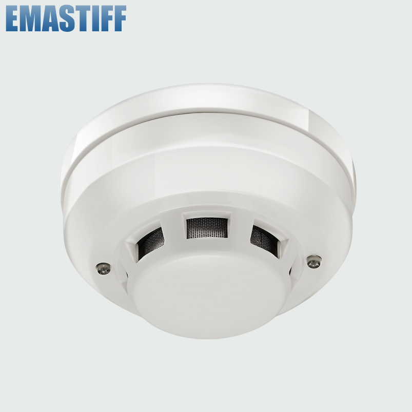 New Brand Wired Networking Sensor Smoke Detector For Sale/Optical Host components Smoke Detector Alarm For gsm alarm system все цены