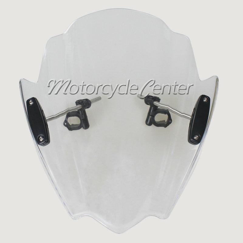 Transparent Motorcycle Wind Deflectors Windshield Windscreen For 2004 2015 Kawasaki Z1000 Z750 Z750R Z 1000 750