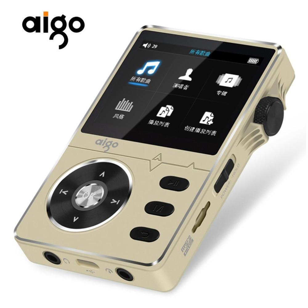 Aigo Zinc Alloy HiFi 2.2 Inches 8GB MP3 Player High Quality Sound Lossless Music Support APE/FLAC/ WMA/ WAV/OGG/ACC Perfect Gift xduoo nano d3 24bit 192khz dsd256 hifi lossless music player built in 8gb ape flac alac wav wma ogg mp3