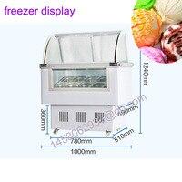 10 вкус мороженое Дисплей Счетчик Мороженое Дисплей витрина мороженое кабинет