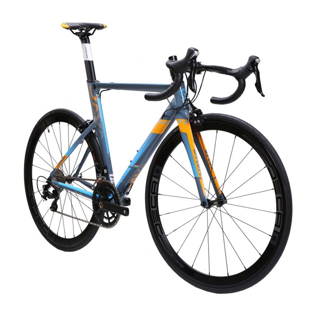 Ява ФУОКО алюминия & углерода дорожного велосипеда 700c Аэро гоночный велосипед 22 скорость с 105 5800 переключатель Сдвигатель тек ТРО тормоза C модель