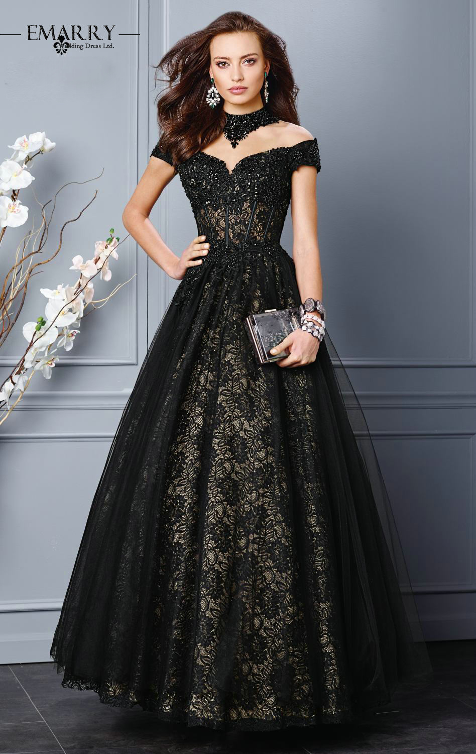 Images of Black Lace Evening Gown - Bellersfashion