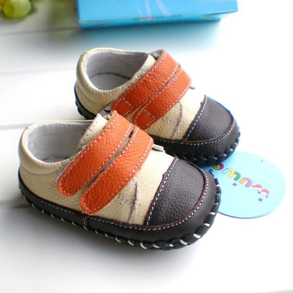 2017 OMN baby boys fashion patchwork genuine leather toddler shoes wholesale children casual shoes first walkers hot sale