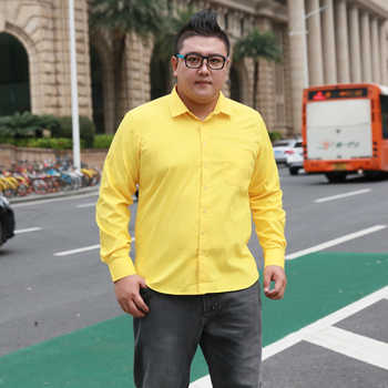 Plus Size 5XL 6XL 7XL 8XL Social Business Easy-care Dress Men Shirt  Casual Soft Comfortable Pure Color Yellow Purple Red - DISCOUNT ITEM  42% OFF All Category