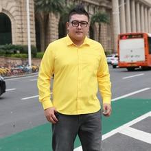 Robe dentreprise pour hommes, grande taille 5XL 6XL 7XL 8XL, robe facile à prendre en charge, chemise décontracté, douce et confortable, couleur Pure, jaune, violet, rouge