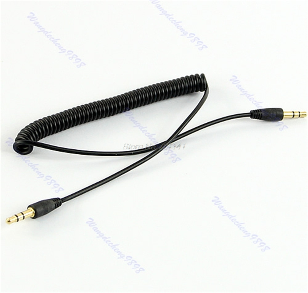 3.5mm Jack Audio Coiled Spiral Male To Male M/M Plug Stereo Extension Cable 4Ft Electronics Stocks