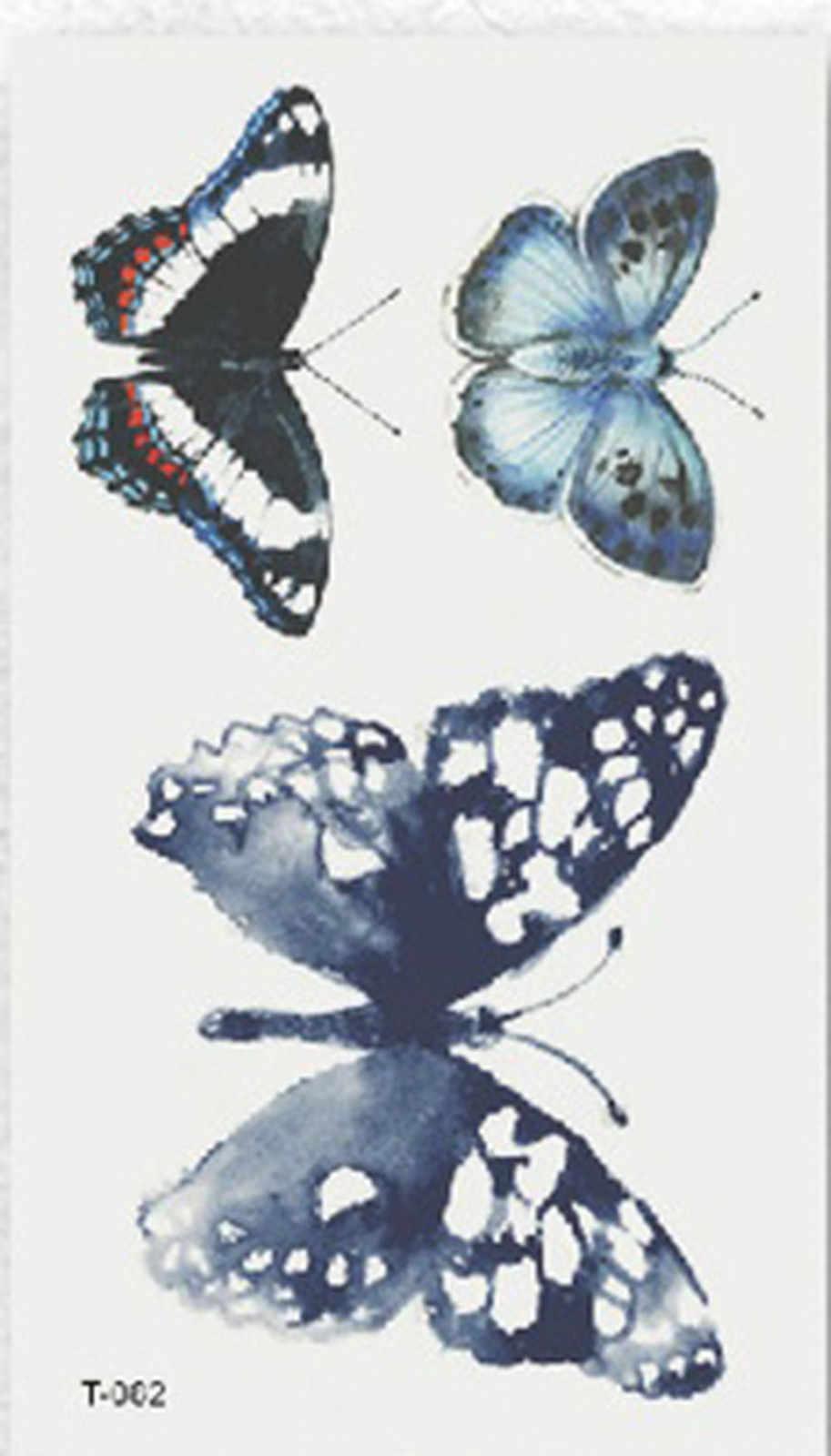 1Sheet  Watercolor Butterfly Temporary Tattoo Sticker Waterproof Women Fake Tattoos Men Children Body Art Hot Design  S11