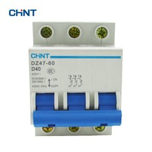 CHINT Air Switch 40A Miniature Circuit Breaker DZ47-60 3P D40 new ezd100e 3p 40a ezd100e3040n plastic breaker