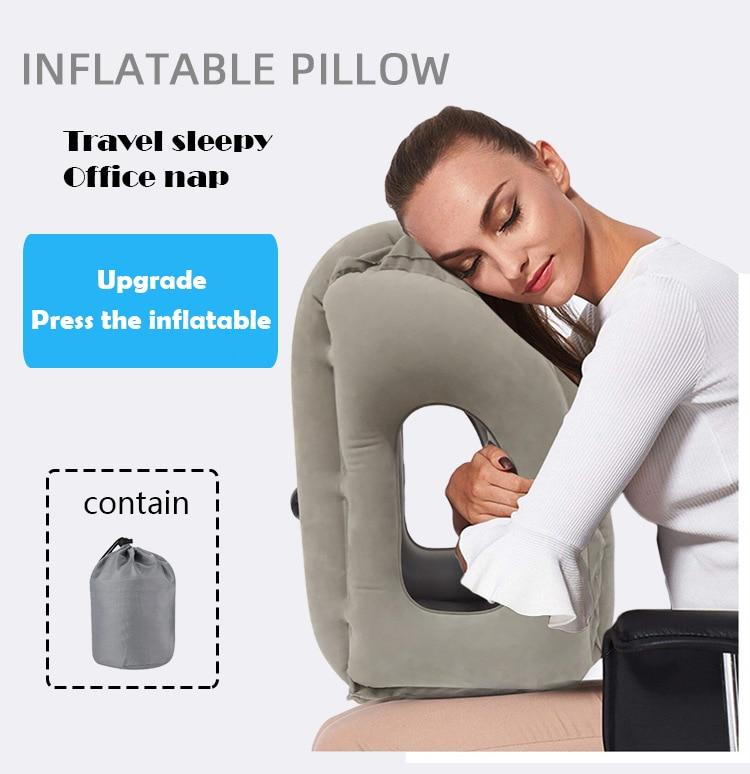 Cushion - Inflatable Soft Cushion Travel Pillow