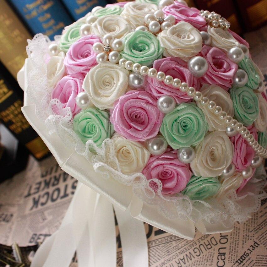 Fresh Style 2016 Wedding Bouquet Artifical Flower Pearl bridal ...