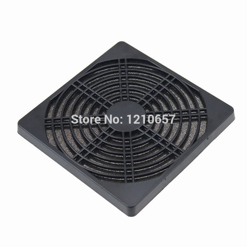 2PCS LOT PC Computer Black Plastic Dustproof 120mm Fan Filter 2 pcs lot