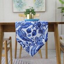 Классический настольный бегун экзотические украшение стола Мода ТВ флаг для шкафа хлопково-Льняная Ткань Обеденный подложка настольная скатерть для кофе