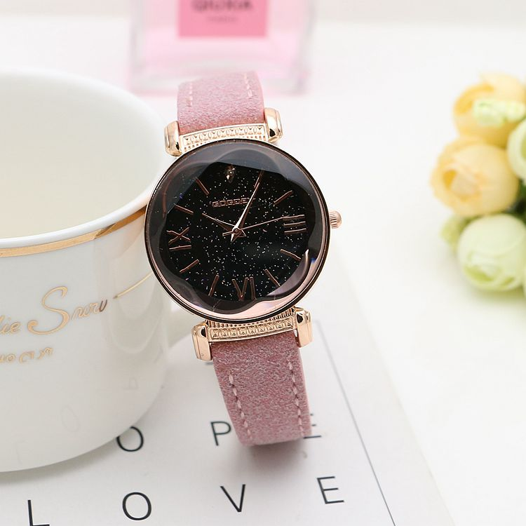 Women Rose Gold Leather Watches  5