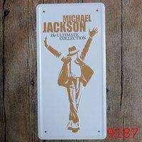 Tin Sign LOSICOE Vintage Metal Painting Michael Jackson Car License Plate Wall Painting Art Fashion Crafts
